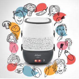 Arzum Foodie Elektrische Lunchbox AR1073 - White - 2 Layer - All in One - Multifunctional