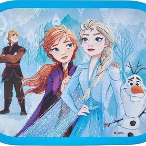 Lunchbox - Frozen 2 - Mepal - Gevuld met een snoepmix - In cadeauverpakking met gekleurd lint
