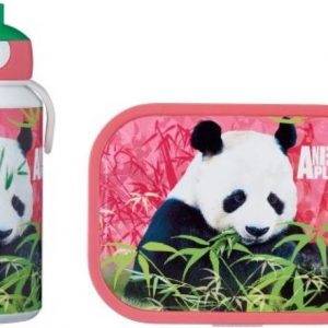 Mepal Campus Lunchset - pop-up drinkfles en lunchbox - Animal Planet Panda - Roze
