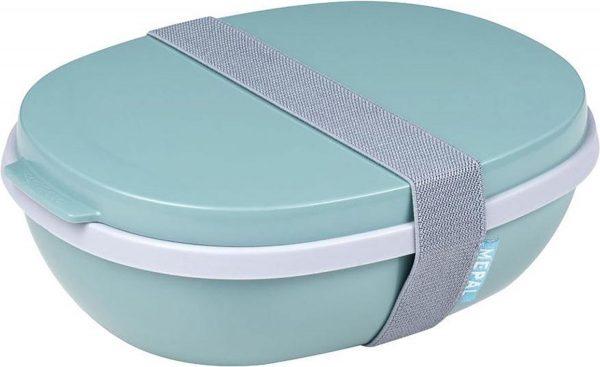 Mepal Ellipse Duo Lunchbox - 1.4L - Nordic Green