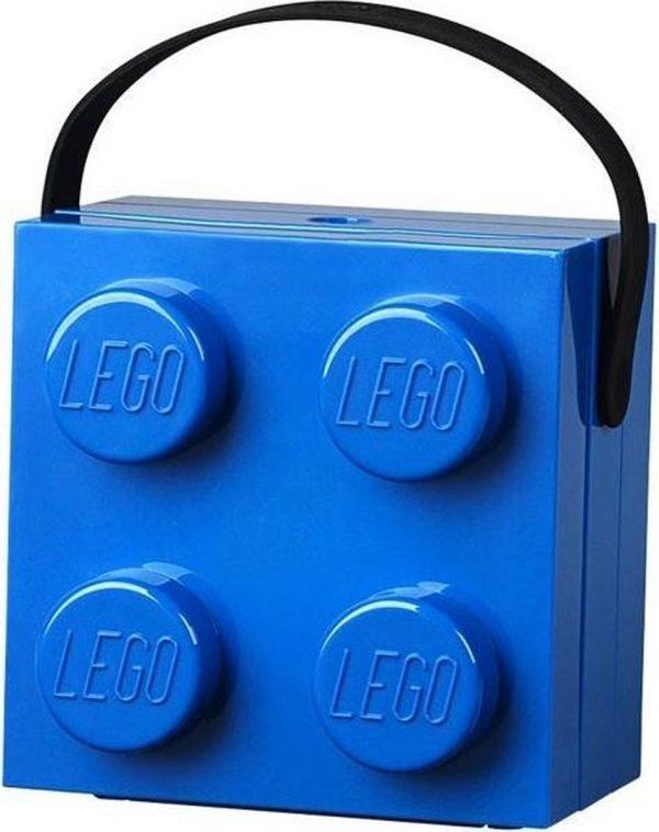 Set van 2 - Lunchbox Brick 4 met handvat, Blauw - LEGO