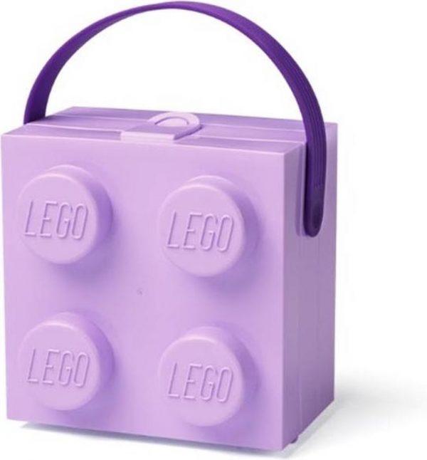 Set van 2 - Lunchbox Brick 4 met handvat, Lavendel - LEGO