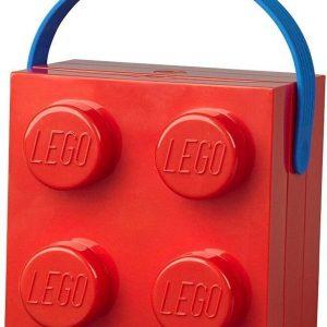 Set van 2 - Lunchbox Brick 4 met handvat, Rood - LEGO