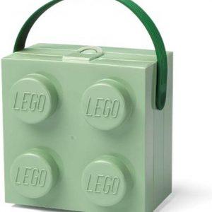 Set van 2 - Lunchbox Brick 4 met handvat, Zandgroen - LEGO