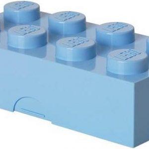 Set van 2 - Lunchbox Classic Brick 8, Lichtblauw - LEGO