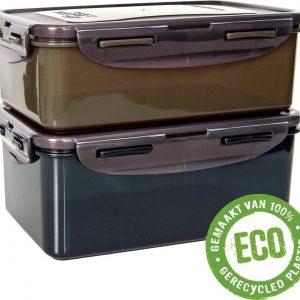 Lock&Lock ECO Vershoudbakjes | Lunchbox - Set van 2 stuks - Duurzaam - Zero waste - 100% gerecycled plastic - 1 + 1,4 liter