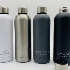 SAVAGE Drinkfles - Thermosfles - Geïsoleerde Bidon - Metaal