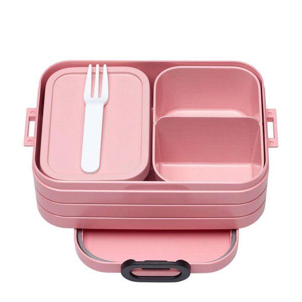 Rosti Mepal Lunchbox Bento Midi 12 X 18,5 X 6,5 Cm Roze