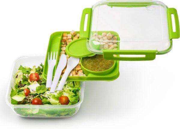 Rotho Lunchbox MEMORY Salad Green 1700 ml