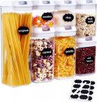 Voorraadpotten set - Luchtdicht   7 STUKS   voorraadbussen  Voedsel bewaren  aardewerk   deksel   Airtight Food Storage   Luchtdichte containers voor voedselopslag   Keukenopslagcontainers   Luchtdichte containers voor voedselopslag